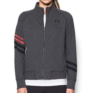 UA french terry front zip hoodie sz XL